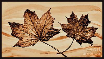 Canadian Leaf Print by Marsha Heiken