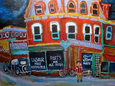 Litvack Painting - Canadian Tire by Michael Litvack