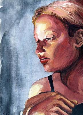 Mysterious Women Painting - Candle Lit Girl  by Rene Capone