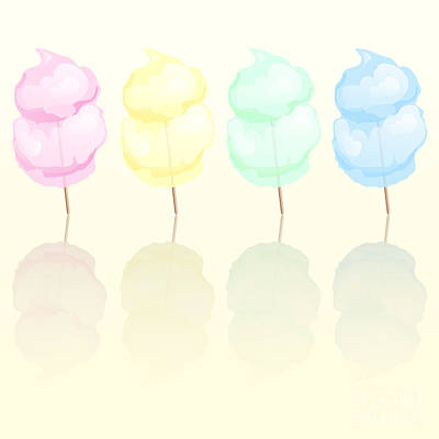 Isolated Digital Art - Candy Floss by Jane Rix