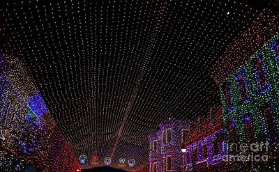 Canopy Of Lights Print by Ronnie Glover