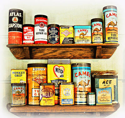 Cans Of Old Print by Marty Koch
