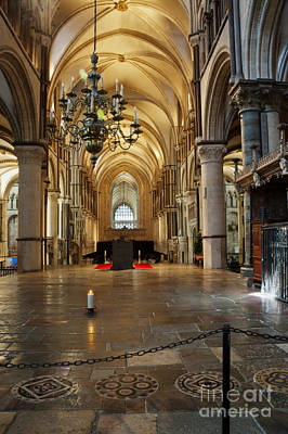 Candle Lit Digital Art - Canterbury Cathedral Aisle by Donald Davis