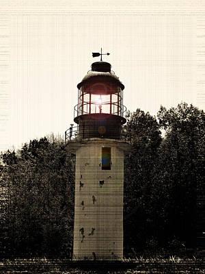 Cape Crocker Lighthouse 2 Print by Cyryn Fyrcyd