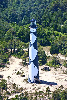 Cape Lookout Lighthouse Print by Betsy Knapp