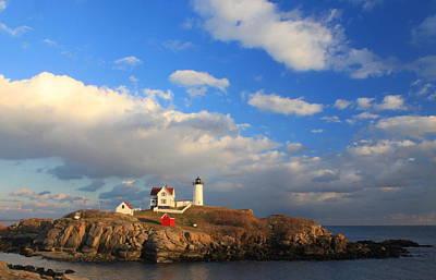Cape Neddick Nubble Lighthouse Maine Print by John Burk