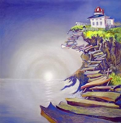Cape Spear Nl Original by Leona Ottenheimer