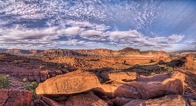 Pinion Photograph - Capitol Reef Sunset by Stephen Campbell
