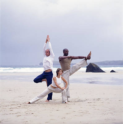 Capoeira And Yoga Print by Tony Mcconnell