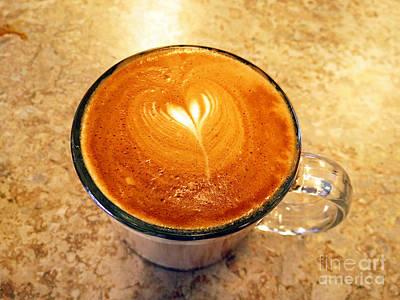 Cappuccino Everyone Wants Print by Ausra Huntington nee Paulauskaite