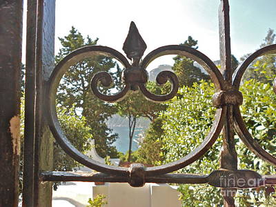 Capri Through Gate Print by Italian Art
