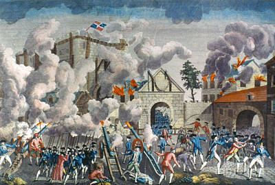 Capture Of Bastille, 1789 Print by Granger