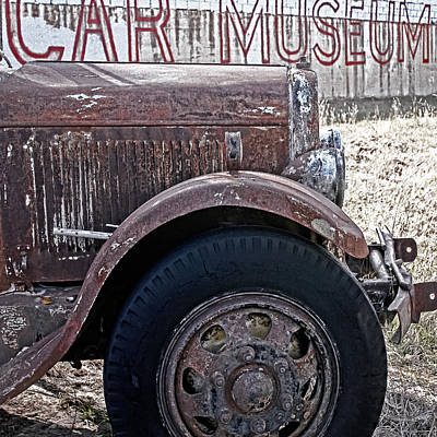 Old Trucks Photograph - Car Museum by Tony Grider