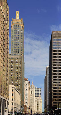 Carbide And Carbon And Wrigley Building - Two Chicago Classics Print by Christine Till