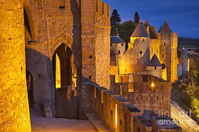 Carcassonne Ramparts Print by Brian Jannsen