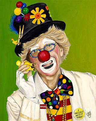 Klown Painting - Careful The Clown by Patty Vicknair