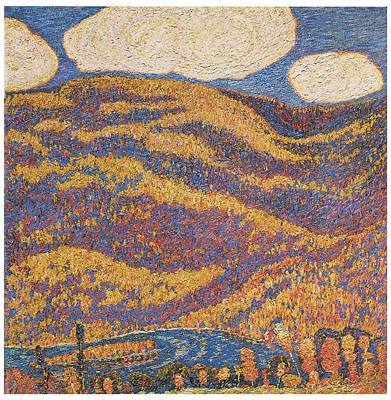 Carnival Of Autumn Print by Marsden Hartley