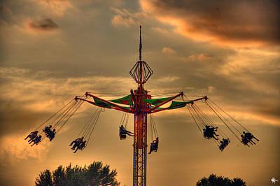 Justin Digital Art - Carnival Ride by Nicholas  Grunas
