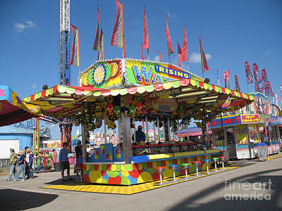 Pink Of Carnival And Festivals Ferris Wheels Photograph - Carnivals Fairs And Festival Art  by Kathy Fornal