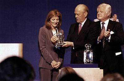 Caroline Kennedy And Senator Ted Print by Everett