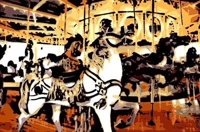 Wooden Platform Digital Art - Carousel In The Afternoon by George Pedro