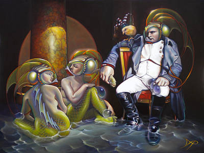 Merman Painting - Carpoleon Bonafish by Patrick Anthony Pierson