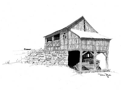 Old Barn Drawing Photograph - Carriage House by Donald Black