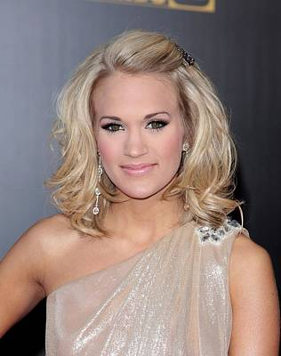 Carrie Underwood At Arrivals For 2009 Print by Everett
