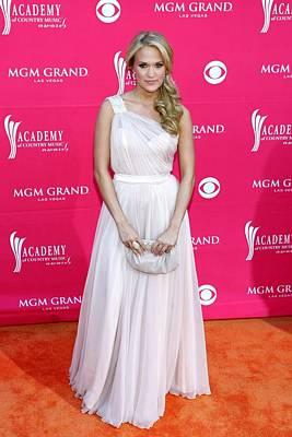 Carrie Underwood Wearing A Randi Rahm Print by Everett