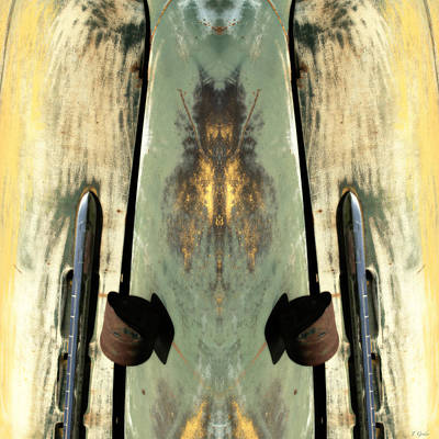Rusted Cars Digital Art - Carschach010 by Tony Grider