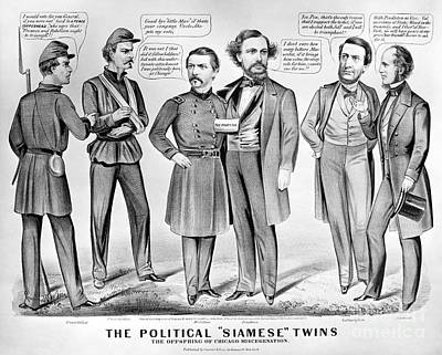 Cartoon: Election Of 1864 Print by Granger