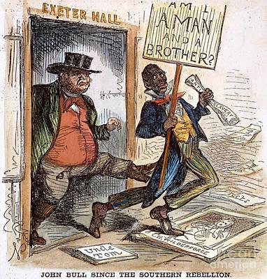 Cartoon: Slavery, 1861 Print by Granger