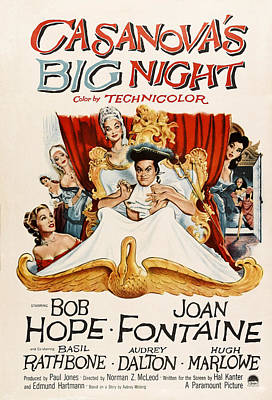 Casanovas Big Night, Joan Fontaine, Bob Print by Everett