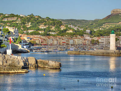 Cassis - Harbour And Lighthouse 2 Print by Rod Jones