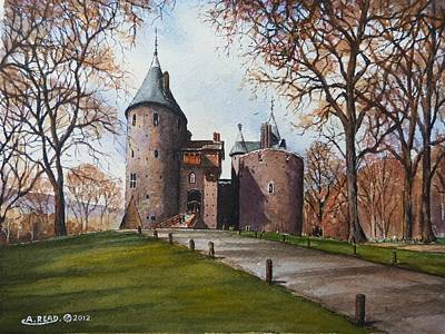 Wood Castle Painting - Castell Coch by Andrew Read