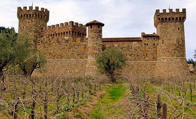 Sattui Photograph - Castello Di Amorosa Castle And Vines by Jeff Lowe