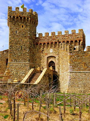 Sattui Photograph - Castello Di Amorosa by Jeff Lowe