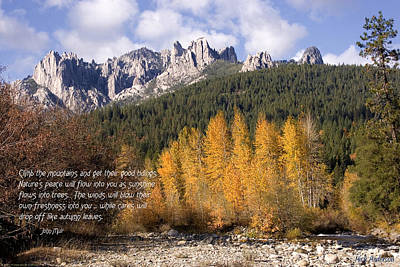 Castle Crags Autumn Print by Mick Anderson