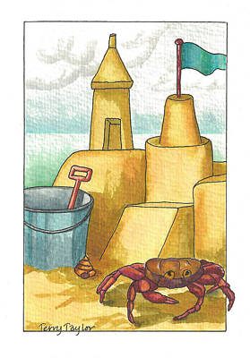Castle In The Sand Print by Terry Taylor