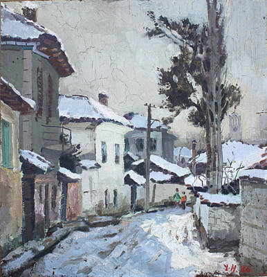 Albania Painting - Castle Neighborhood Elbasan by Ylli Haruni