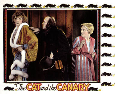 Posth Photograph - Cat And The Canary, Gertrude Astor by Everett