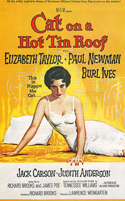Cat On A Hot Tin Roof Print by Georgia Fowler