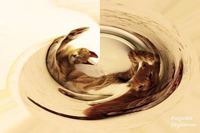 Soulful Eyes Digital Art - Cat Whirling by Augusta Stylianou