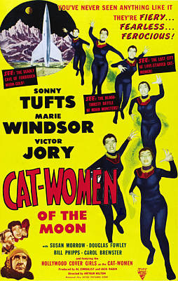 Cat Women Of The Moon, Sonny Tufts Print by Everett