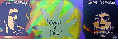 Civil Rights Painting - Catch A Fire by Tony B Conscious