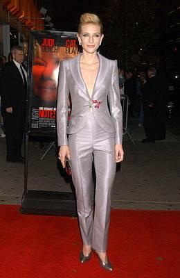 Cate Blanchett At Arrivals For New York Print by Everett