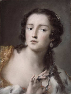 Caterina Sagredo Barbarigo As 'bernice' Print by Rosalba Giovanna Carriera