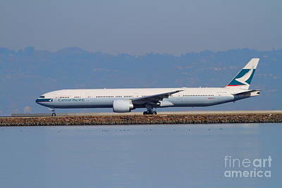 Airlines Photograph - Cathay Pacific Airlines Jet Airplane At San Francisco International Airport Sfo . 7d11919 by Wingsdomain Art and Photography