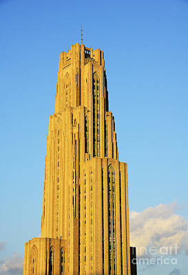 Cathedral Of Learning In Evening Light Print by Thomas R Fletcher