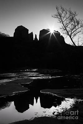 Cathedral Rock Sunrise Sedona Arizona Print by Matt Suess